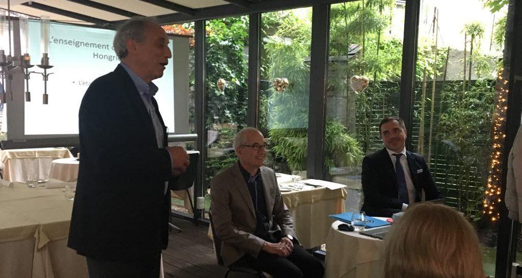 Poros András és Zsámboki Marcell előadása a francia és magyar nyelv oktatásának helyzetéről a két országban