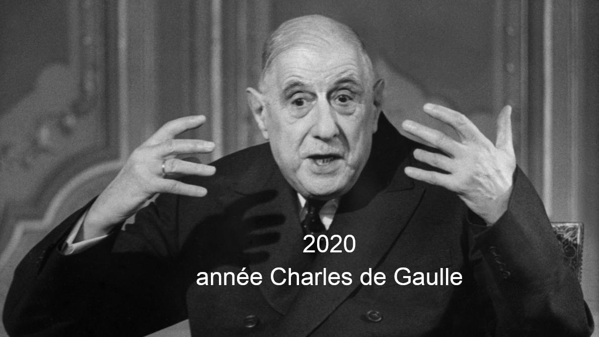 2020 année Charles de Gaulle